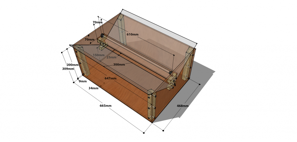 Moth Trap with Dimensions